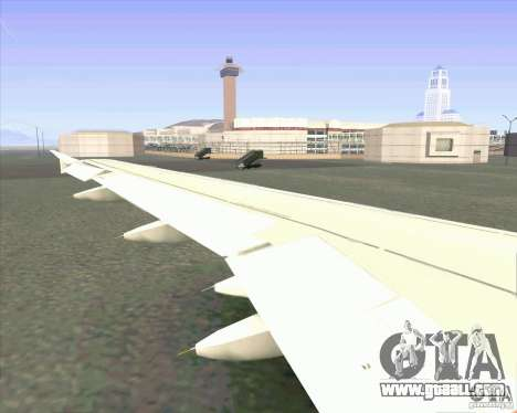 Airbus A-320 airline UTair for GTA San Andreas back view