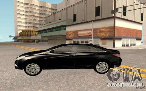 Hyundai Sonata 2012 for GTA San Andreas inner view