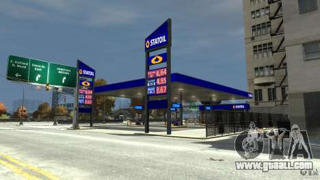 Statoil Petrol Station for GTA 4 second screenshot