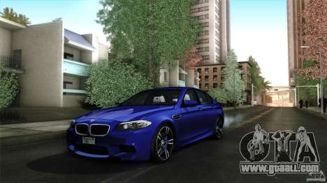 BMW M5 F10 2012 for GTA San Andreas upper view