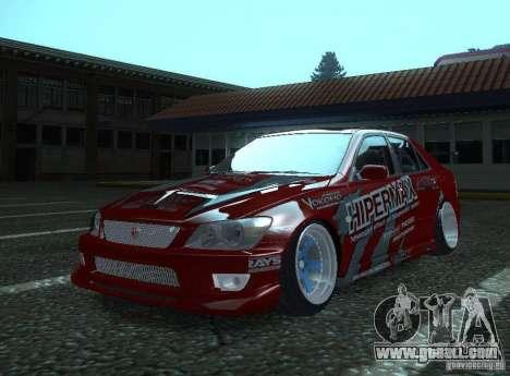 Toyota Altezza Hipermax for GTA San Andreas