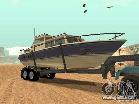 Boat Trailer for GTA San Andreas back view