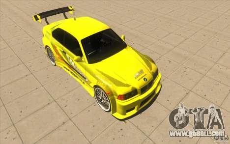 BMW M3 E36 1994 with new vinyl unique for GTA San Andreas right view