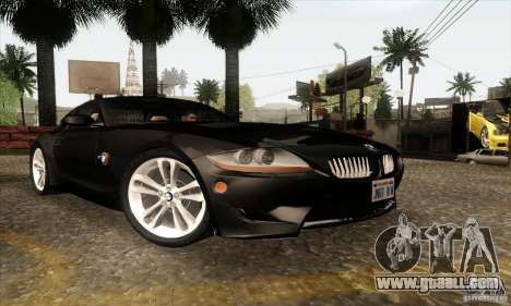 BMW Z4M for GTA San Andreas left view
