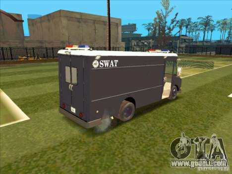 Swat Van from L.A. Police for GTA San Andreas back view