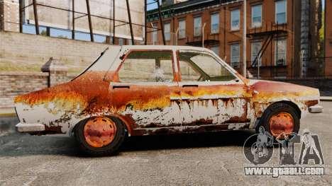 Renault 12 Toros rusty v2.0 for GTA 4 left view