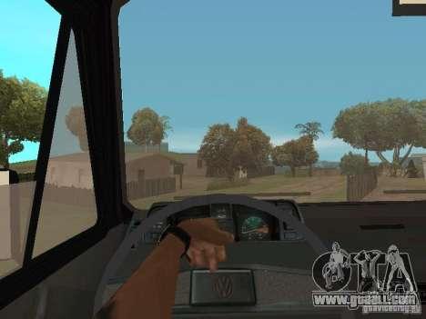 Volkswagen Transporter T3 for GTA San Andreas inner view