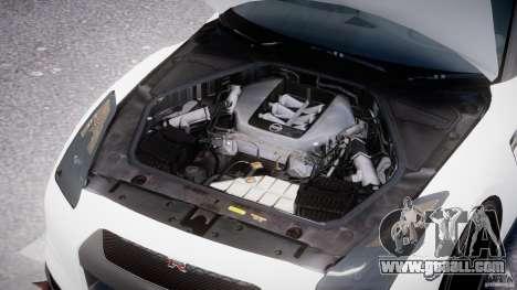 Nissan GTR R35 SpecV v1.0 for GTA 4 upper view