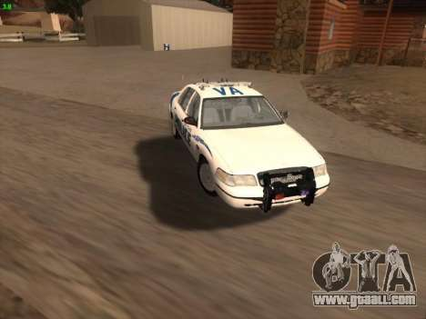 Ford Crown Victoria Vancouver Police for GTA San Andreas engine