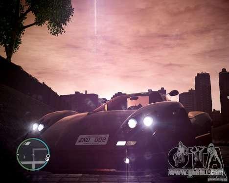 Pagani Zonda C12S Roadster for GTA 4 right view