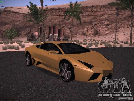Lamborghini Reventon for GTA San Andreas left view