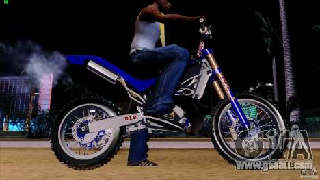 Honda CR 250 Stunt for GTA San Andreas left view