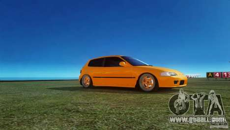Honda Civic Tuned for GTA 4 left view