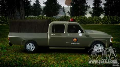 Chevrolet D20 Brigada Militar RS for GTA 4 left view