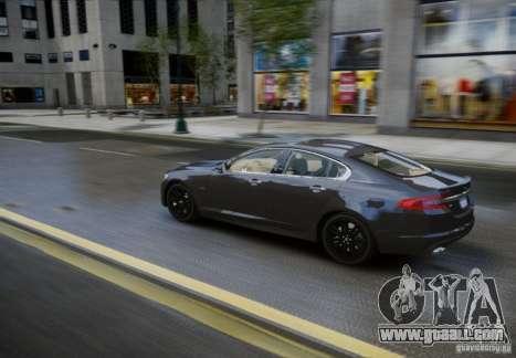 Jaguar XFR 2010 V.2.0 for GTA 4 back view