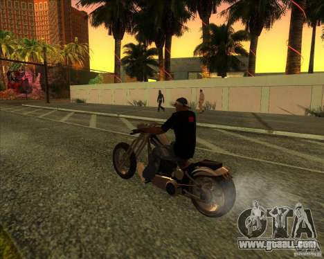 Hexer bike for GTA San Andreas bottom view