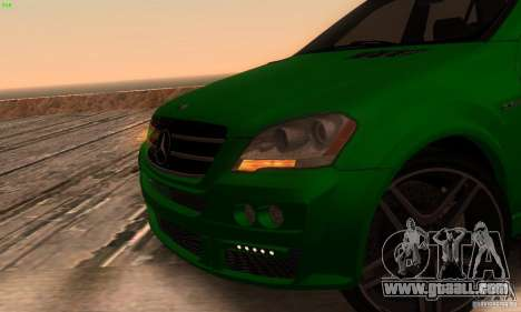 Mercedes-Benz ML63 AMG Brabus for GTA San Andreas back view
