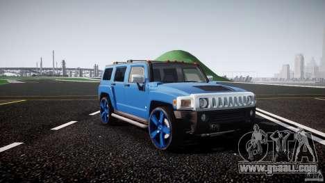 Hummer H3 for GTA 4 inner view