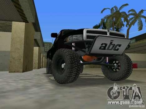 Dodge Ram Prerunner for GTA Vice City left view