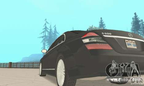 Mercedes-Benz S500 (w221) 2006 for GTA San Andreas back view