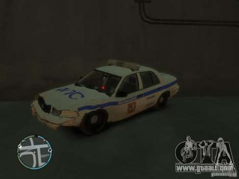 Ford Crown Victoria Police for GTA 4 back view