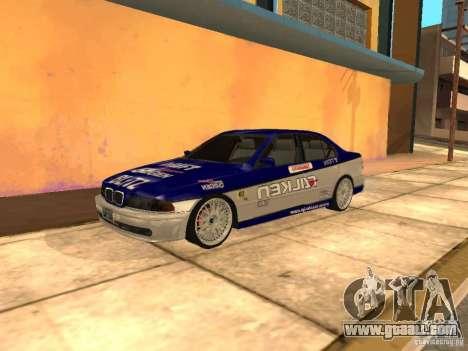 BMW 5-er E39 v2 for GTA San Andreas back left view