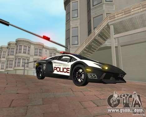 Lamborghini Aventador LP700-4 Police for GTA San Andreas right view