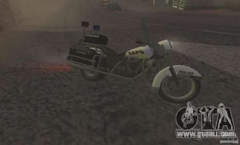 Police motorcycle from GTA TBoGT for GTA San Andreas left view