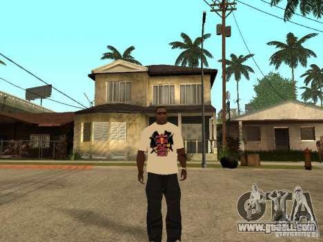 T Shirt Red Bull for GTA San Andreas