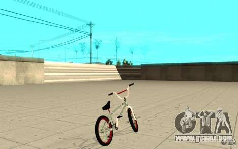 REAL Street BMX mod Chrome Edition for GTA San Andreas back left view