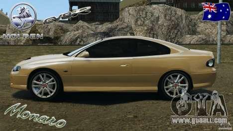 Holden Monaro CV8-R for GTA 4 left view