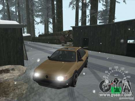 Volkswagen Passat B3 for GTA San Andreas inner view