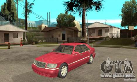 Mercedes-Benz S600 1999 for GTA San Andreas left view