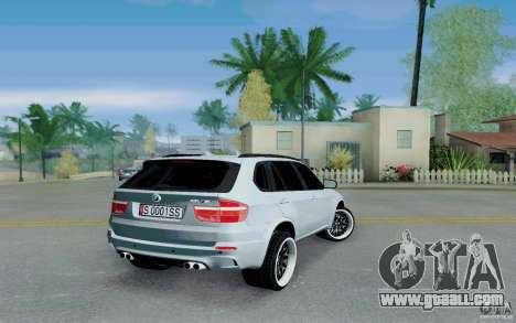 BMW X5M E70 for GTA San Andreas back left view