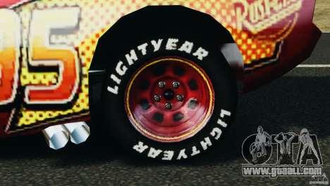 Lightning McQueen for GTA 4 back view