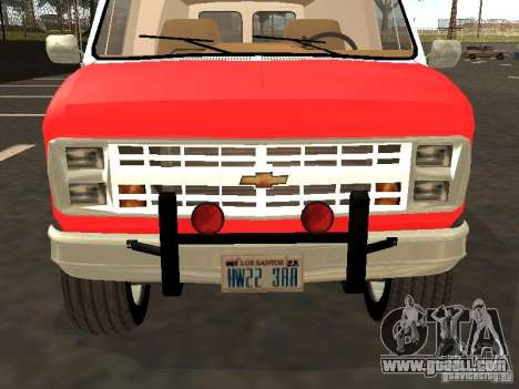 Chevrolet Van G20 LAFD for GTA San Andreas left view
