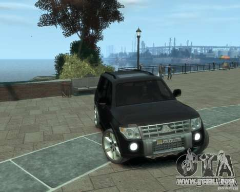 Mitsubishi Pajero for GTA 4 back left view