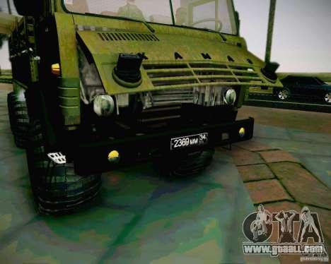 KAMAZ 4310 Army for GTA San Andreas right view