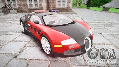 Bugatti Veyron 16.4 Police [EPM/ELS] for GTA 4 back view