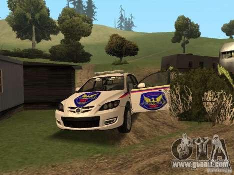 Mazda 3 Police for GTA San Andreas side view