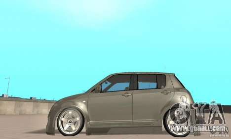 Suzuki Swift Tuning for GTA San Andreas back left view