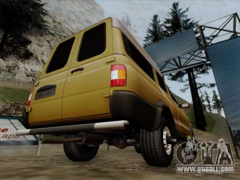 UAZ 2760 for GTA San Andreas bottom view