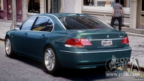 BMW 7 Series E66 for GTA 4 upper view