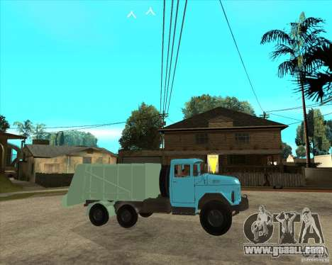 ZIL 131 garbage truck for GTA San Andreas right view