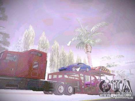 Auto Transporter Trailer for GTA San Andreas right view