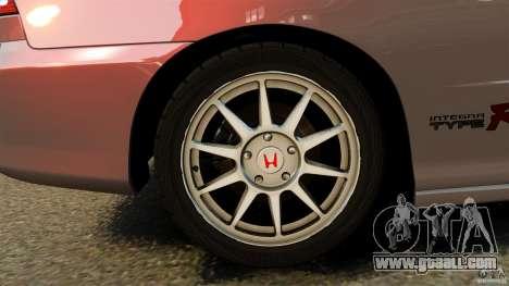 Honda Integra Type-R for GTA 4 back view