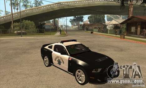 Shelby GT500 2010 Police for GTA San Andreas inner view