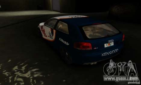 Audi S3 for GTA San Andreas back view