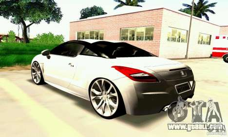 Peugeot Rcz 2011 for GTA San Andreas interior