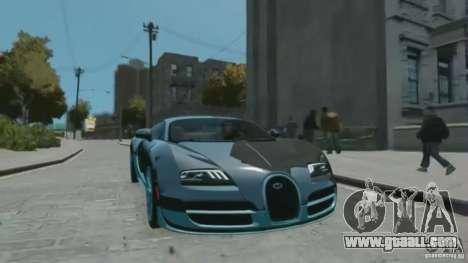 Bugatti Veyron 16.4 Super Sport for GTA 4 right view